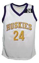 A.Tyler #24 The 6th Man Movie Huskies Basketball Jersey New White Any Size image 1