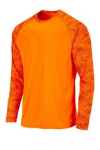 Sun Protection Long Sleeve Dri Fit Safety Neon Orange shirt Camo Sleeve SPF 50+ image 2