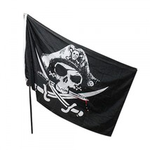 Pirate Flag Black Skull Crossbones Knives Scary Party Supplies Halloween... - $81,92 MXN