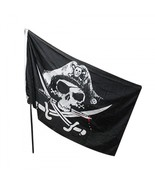 Pirate Flag Black Skull Crossbones Knives Scary Party Supplies Halloween... - $5.45 CAD