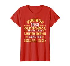 Dad Shirts -  Vintage Old School 1968 50th Years Old 50 Birthday Shirt Wowen image 3