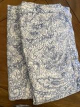 Charter Club Damask Designs 100% Cotton Paisley King Pillow Shams Blue White EUC - $28.71