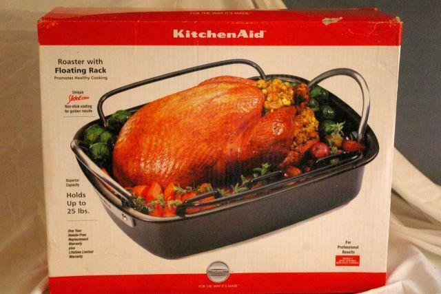 "Primary image for KitchenAid 2018 Non Stick Roaster With Floating Rack 15"" x 12"" NIB"