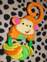 Fisher Price Rainforest Monkey Teether Rattle Baby Toy FP Infant Toddler... - $9.85