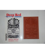Rubber Stamps - Deep Red CLING STAMPS - CRAYOLA CRAYONS - $8.00