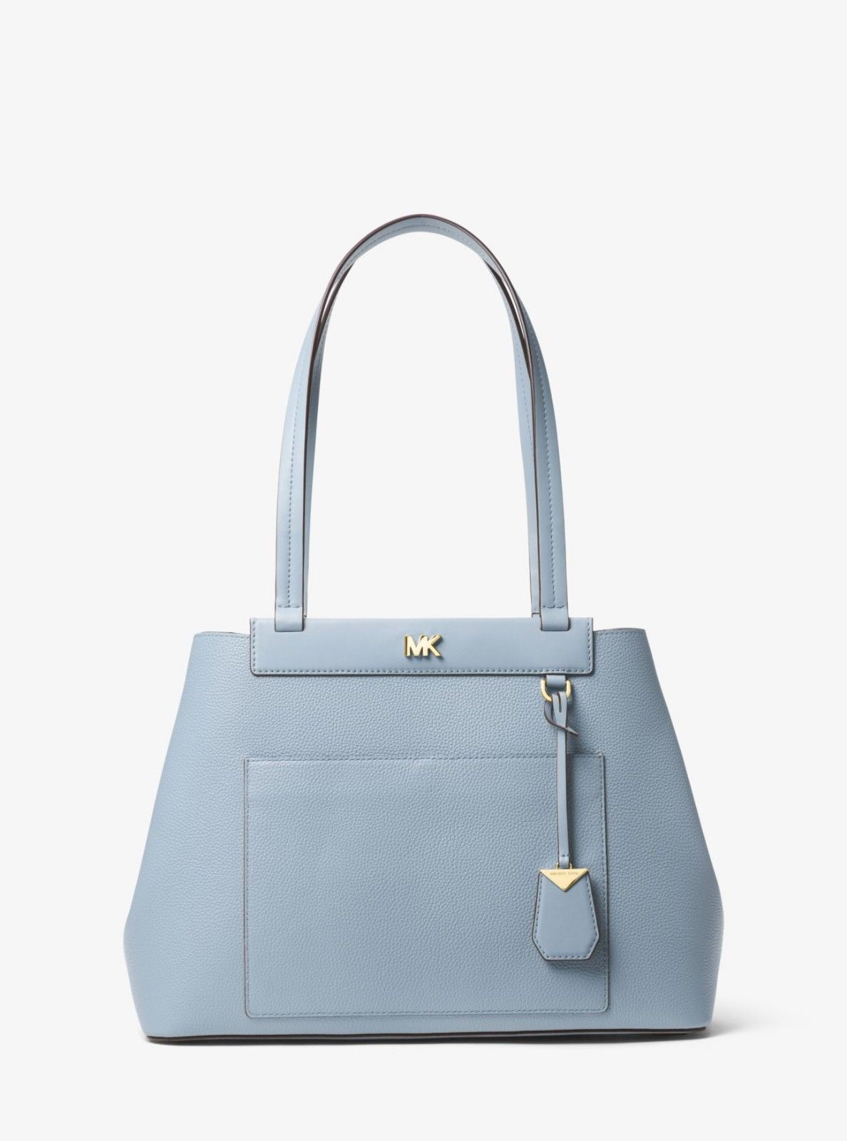 Michael Kors Meredith Medium Leather Tote Bag, Pale Blue handbag satchel NWT