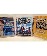 PlayStation Rock Band and Baseball (3 Disc Sets) - $23.38