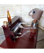 Found Object Folk Art Robot Piano Player Man PLAY IT AGAIN SAM Sculpture... - $236.85