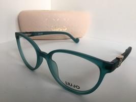New LIU JO LJ 2630 LJ2630 440 Matte Turquoise 51mm Rx Women's Eyeglasses Frame  - $99.99