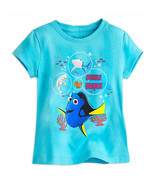 "Disney Store Girls - Finding Dory - "" Bubble Buddies"" Short Sleeve T-Shirt, Blue - $15.00"