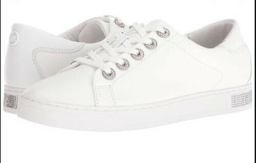 MICHAEL Michael Kors Women's Halle Sneaker Optic White 8.5 M New w/ Defect