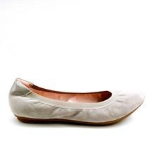 Lands End Womens 496934 Suede Comfort Elastic Ballet Flat Shoes Chilled Gray 10D - $39.59