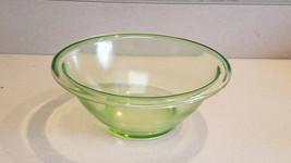 Vintage Hazel Atlas Green Depression Glass Medium Nesting Mixing Bowl - $19.75