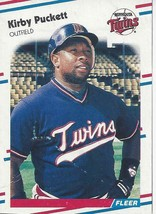 1988 Fleer Wax Box Card Kirby Puckett C7 Twins VG - $1.00