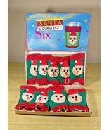 Darling Vintage Dan-Dee Imports NYC • Santa Drink Glass Coasters • Made ... - $20.00