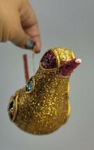 "Vntg Glitter Bird Ornament 9"" EUC - $22.00"