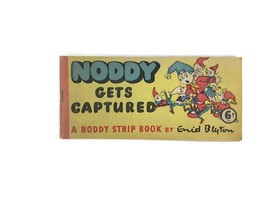Vintage 1950s Noddy Gets Captured A Noddy Strip Book By Enid Blyton Pape... - $12.16