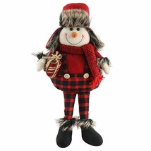 Houwsbaby Christmas Decoration Handmade Plush Snowman Figurines Hold (Sn... - $33.58