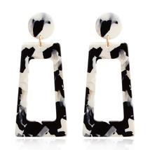 Bohemian Geometry Acrylic Resin Oval Dangle Earrings For Women Big Circl... - $7.20