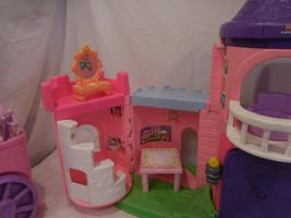 Fisher Price Little People Pink Castle + Play 'N Go Castle + Princess Carriage image 9