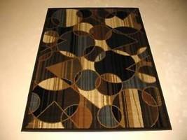 "8x10 (7'8"" x 10'4"") Modern Contemporary Geometric Abstract Brown Blue Ar... - €129,90 EUR"