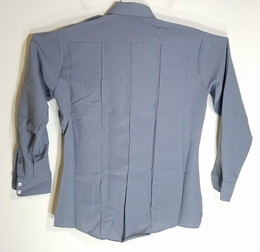 TEX-TROP BY ELBECO MEN/WOMEN POLICE/SECURITY ASH GRAY LONG-SLEEVES UNIFORM SHIRT