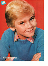 Ricky Schroder teen magazine pinup clipping blue sweater crossed arms 1980's Bop
