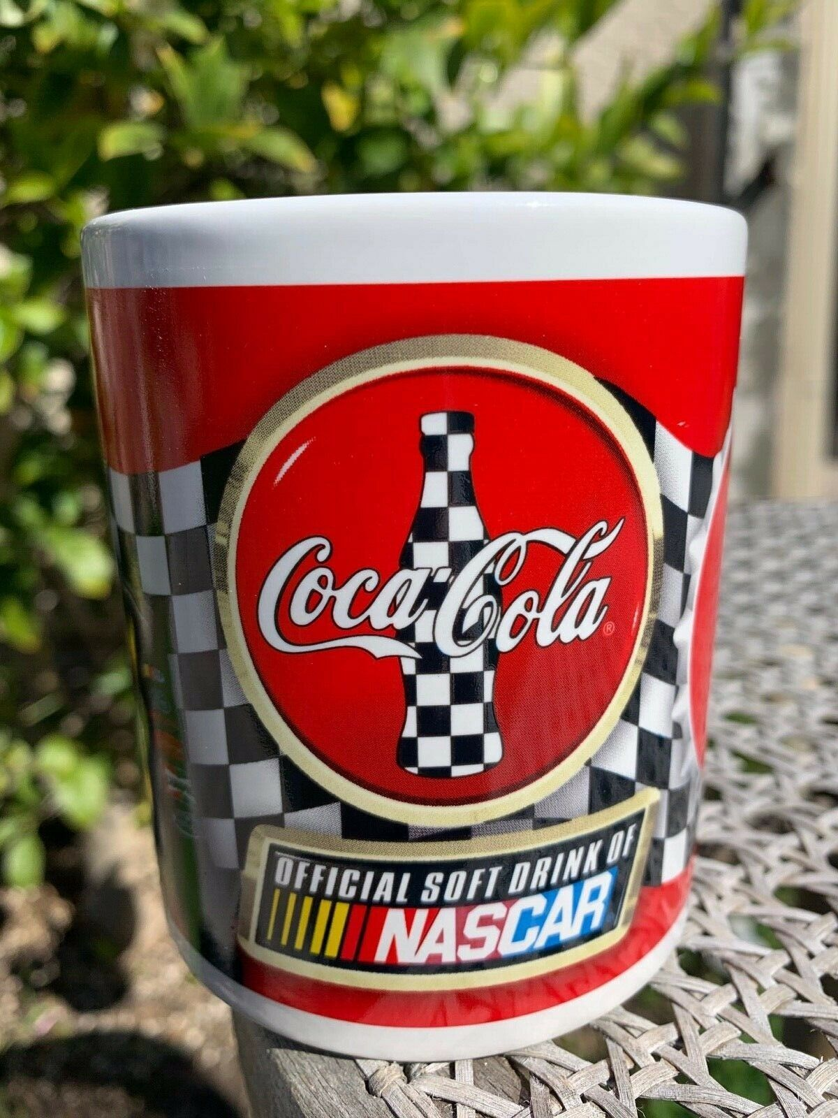 Primary image for Coca Cola Racing Family Mug Nascar Kurt Busch Checkered Flag Official Drink Cup