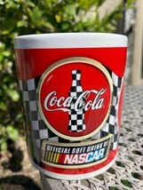 Coca Cola Racing Family Mug Nascar Kurt Busch Checkered Flag Official Dr... - $5.89