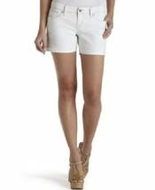 Levi's Jeans Juniors Shorts Sz 9 White Shorty Shorts Mini Low Rise Flat Front  - $25.26