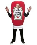 Heinz Ketchup Squeeze Costume Condiment Food Halloween Party Unique GC4868 - £52.45 GBP