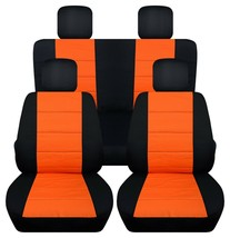 Front and Rear car seat covers Fits Jeep wrangler JL 2018-2020  black and orange - $159.99