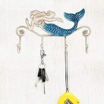 Tooarts Wall Mounted Key Holder Iron Mermaid Wall Decoration 4 Hooks for Coats T image 2
