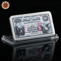 WR US National Bank of Bismarck 1875 $10 Banknote Silver Clad Bullion Ba... - $4.98