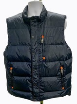 Orvis Down Feather Zip Up Snap Button Puffer Vest Winter Jacket Size L Mens - $36.79