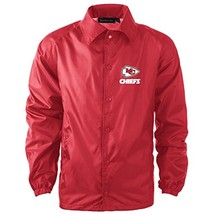 NFL Kansas City Chiefs Men's Coaches Windbreaker Jacket, Medium, Red - $27.95