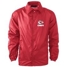 NFL Kansas City Chiefs Men's Coaches Windbreaker Jacket, Medium, Red - $27.95