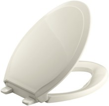KOHLER K-4734-47 Rutledge Quiet-Close with Grip-Tight Bumpers Elongated Toilet S - $47.08