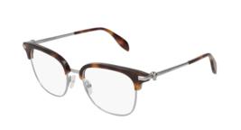 Alexander McQueen AM0152O 003 Eyeglasses Havana Brown Ruthenium Frame 53mm - $227.69