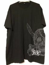 Tultex CALICO JACK SPICED RUM Men's Black Cotton T Shirt Size XXL - $8.90