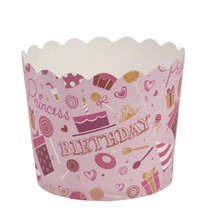 Simcha Collection Pink Birthday Cupcake Wrappers Large/Case of 384 - ₨5,279.43 INR