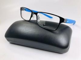 New KIDS NIKE 5576 002 Black & Racer Blue Eyeglasses 48mm with Nike Case - $64.30