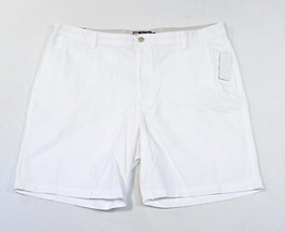 Chaps Flat Front White Cotton Shorts Mens NWT - $33.74