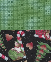 2 FQ Very Rare Daisy Kingdom Quilt Fabric Christmas, Holiday, Mice,Mouse... - $13.77