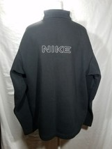 Vintage Nike Spell Out 1/2 Zip Pullover Size XL Black Gray Swoosh - $35.63