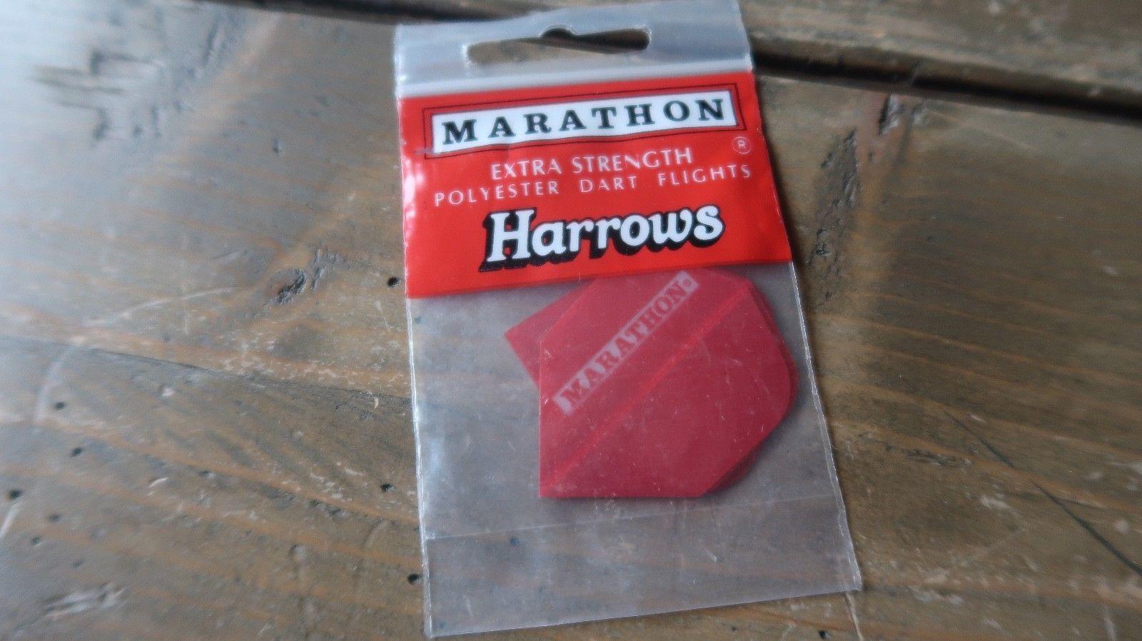 3 NEW Vintage Dart Flights MARATHON HARROWS