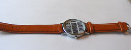 """GENEVA BROWN LEATHER STRAP BAND """"I'M NOT A MORNING PERSON"""" UNISEX WRISTW... - $10.88"""