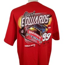 Carl Edwards #99 NASCAR Racing T-Shirt XL Double Sided Office Depot Rous... - $16.99