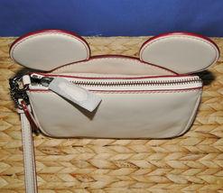 Coach X Disney Mickey Ears Leather Wristlet Ltd Edition Collection Chalk image 12