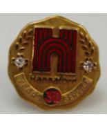 10K Yellow Gold Jewelry Hannaford Supermarkets 30 Year Pin Test Diamonds - $96.04